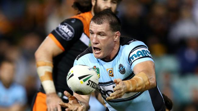 Paul Gallen has scored the second most points of any player. Picture: Gregg Porteous