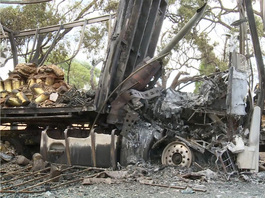 A truck driver has been killed after a collision near the Bordertown checkpoint. Picture: 9 News