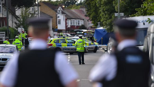 A 10-year-old boy and his aunti were killed after a stolen car ploughed into a family walking to a park in Penge. Picture: Carl Court/Getty Images