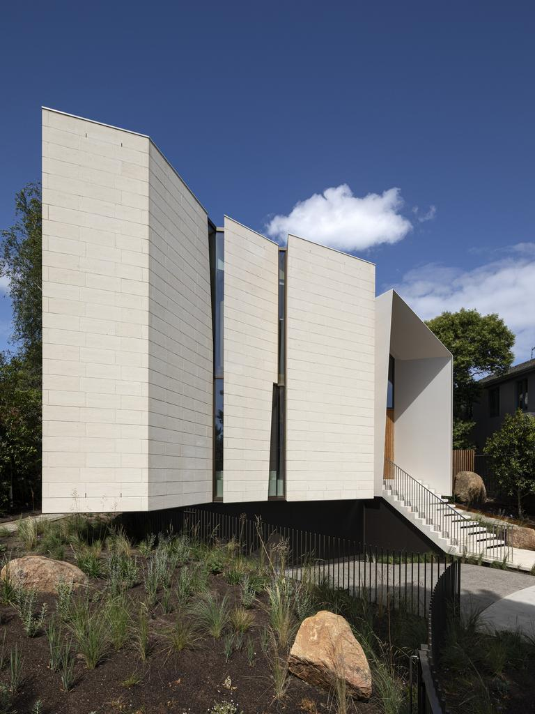 Limestone House by John Wardle Architects in Toorak fell just short in the sustainability category. Picture: Dianna Snape