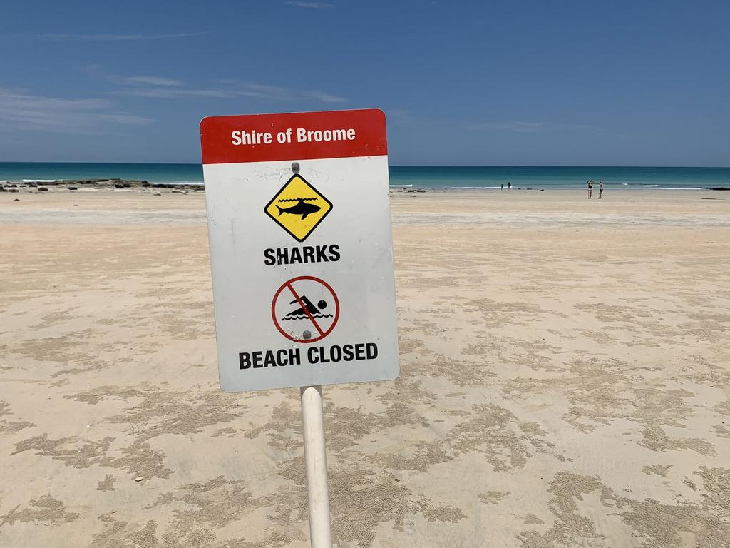 Beaches were closed in Broome after the fatal shark attack but have since reopened.