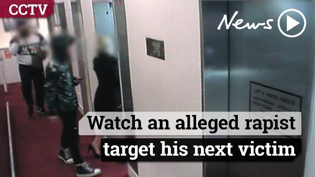 WATCH: The moment an alleged rapist targets his next victim