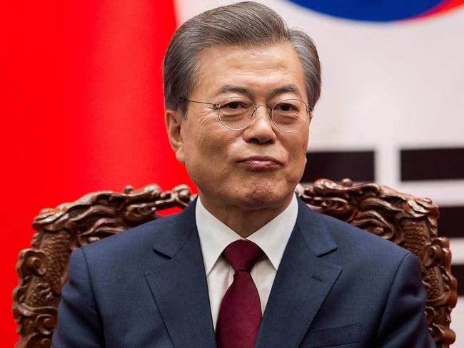 South Korean President Moon Jae-in is hopeful of a peaceful solution. Picture: AFP