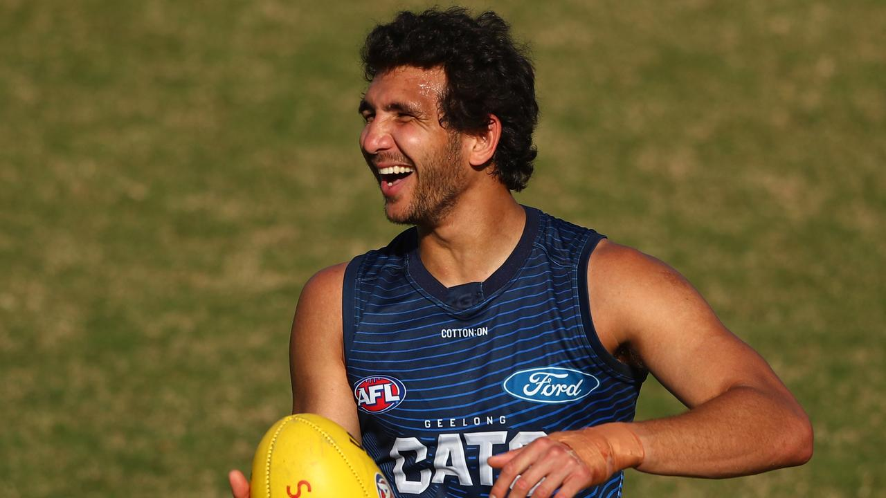 Nakia Cockatoo has played just two games in three years for Geelong (Photo by Chris Hyde/Getty Images).