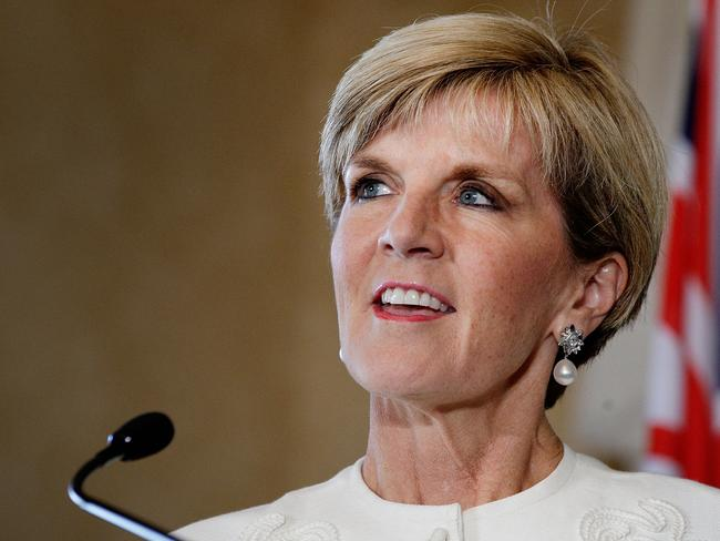 Julie Bishop has thrown her support behind Tony Abbott. Picture: Lisa Maree Williams/Getty Images.