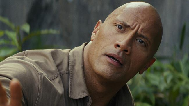 Dwayne Johnson in a scene from the movie Rampage. Picture: Warner Bros. Village Roadshow films