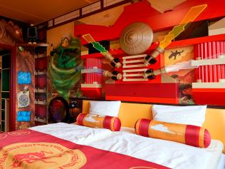 15/20Lego Ninjago Room, Legoland New York The countdown is on until the newest Legoland theme park opens this year – the largest in the world. In the Ninjago room, you can practice your ninja skills with daily in-room scavenger hunts for Lego prizes. There are also pirate, kingdom and Lego Friends rooms.