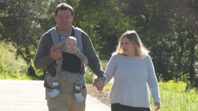 Shane Heron and Dianne Johnstone's search for a donor ended in South Africa. Supplied by Channel 9