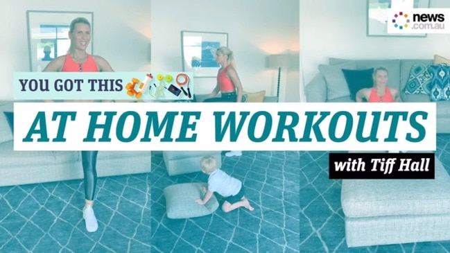 Tiffany Hall's simple at home workout