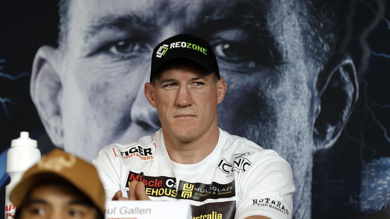 Unbeaten former NRL star Paul Gallen has been given 'less than zero' chance of beating Justis Huni on Wednesday night. Picture: Jonathan Ng.