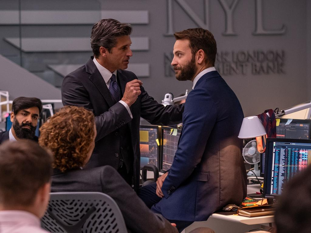 Patrick Dempsey and Alessandro Borghi in Devils. Picture: Supplied/NBCUniversal