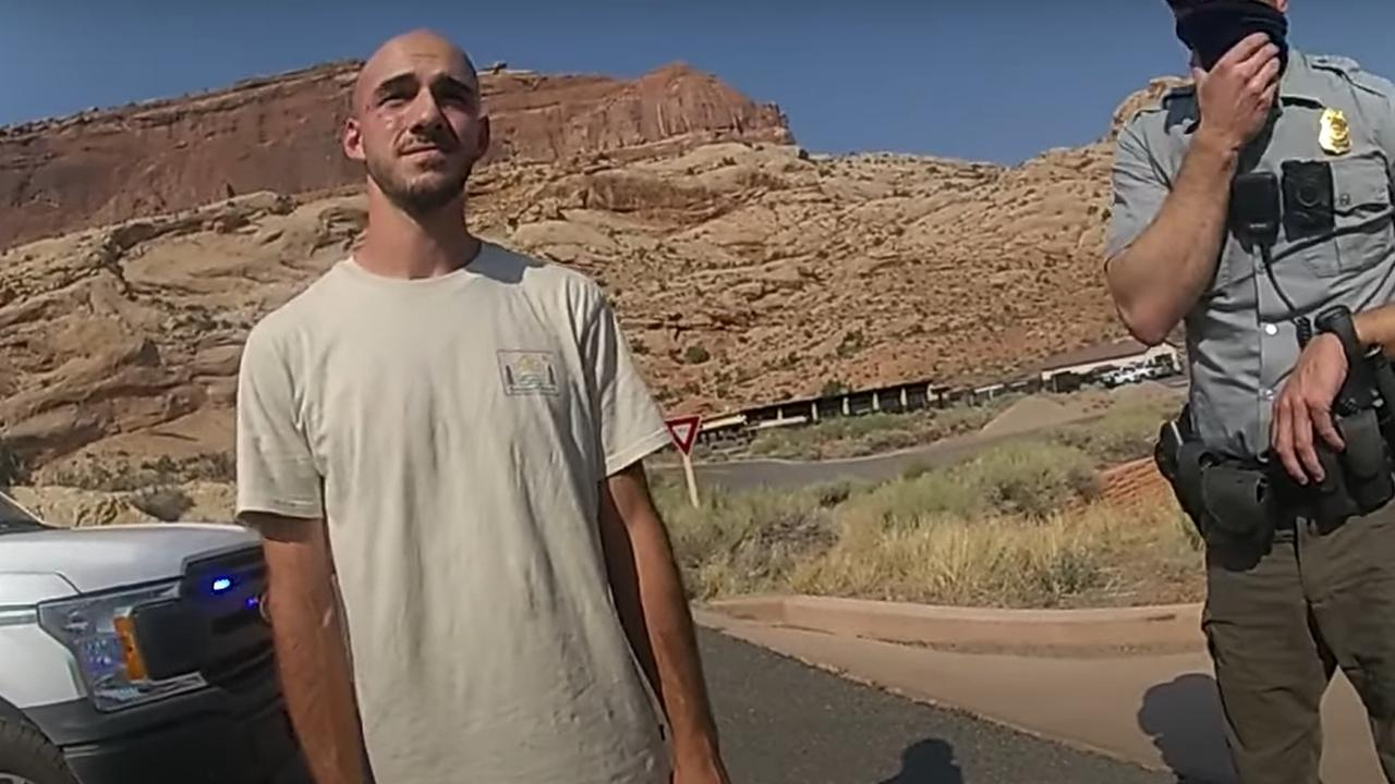 Video Grab from the Moab City Police Department shows officer investigating an incident between Gabby Petito and her boyfriend, Brian Laundrie on the 8th of September.