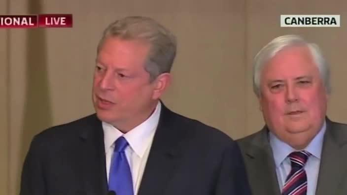 Al Gore makes cameo appearance for Clive Palmer