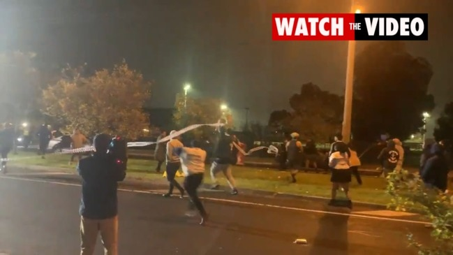 Brawl breaks out after teen stabbed to death in Brimbank, Melbourne