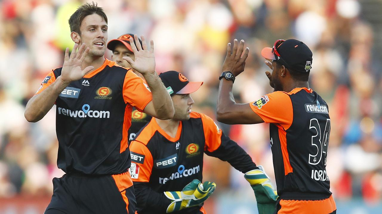 Mitch Marsh dismissed brother Shaun cheaply in Geelong.