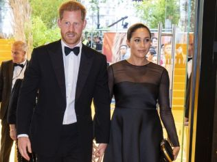 Meghan Markle and Prince Harry attending the UK premiere of The Lion King this week. Image: Getty Images.