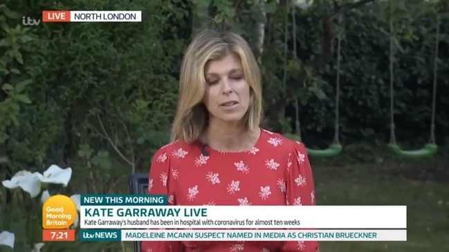 Kate Garraway provides an update on husband's condition (Good Morning Britain)