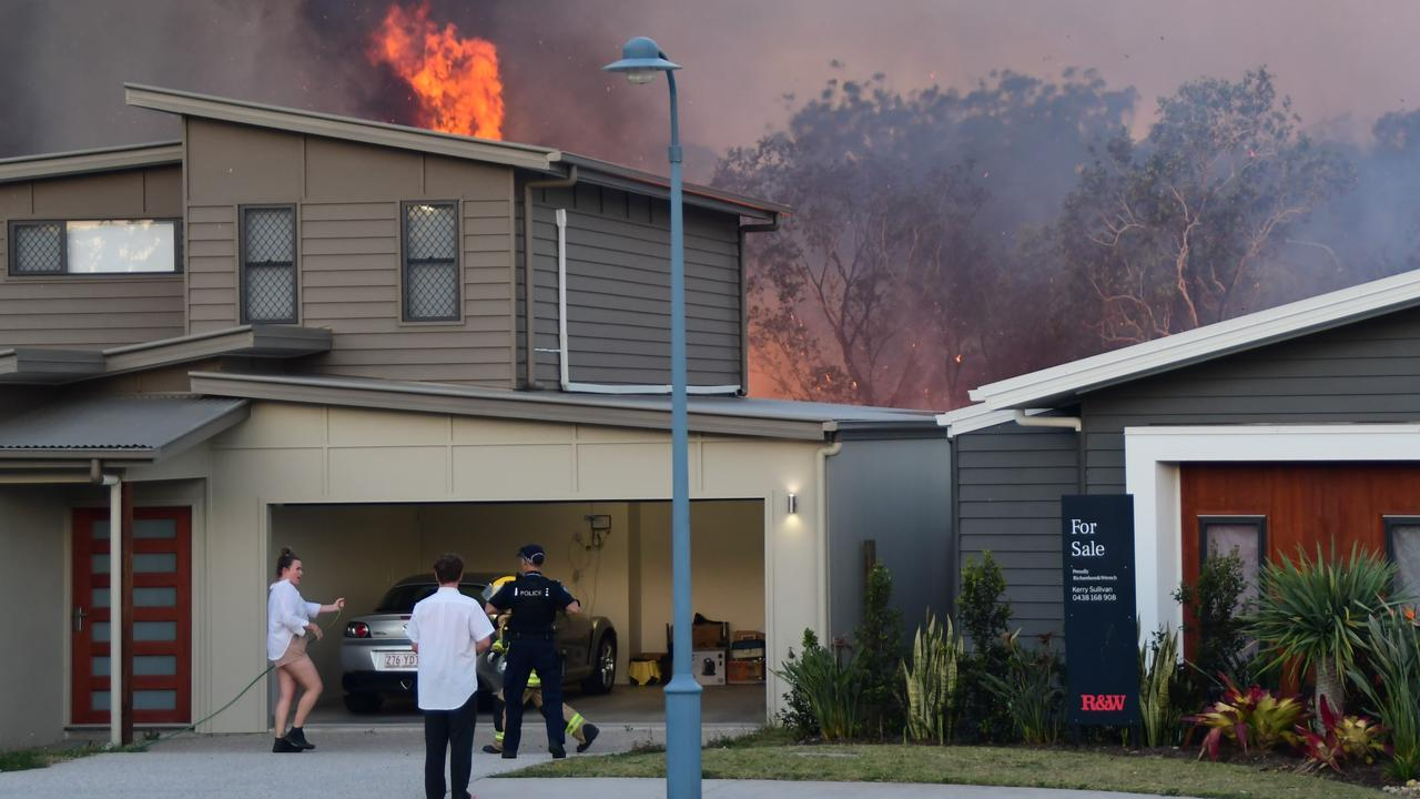 000 caller and Peregian Springs resident Ian Martin captured the moment the fire started in the bush along Koel Circuit and then turned into a raging bushfire.