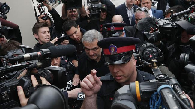Vic Minassian, the father of suspect Alek Minassian, leaves court after his son's court appearance in Toronto on April 24, 2018. Picture: AFP/Lars Hagberg