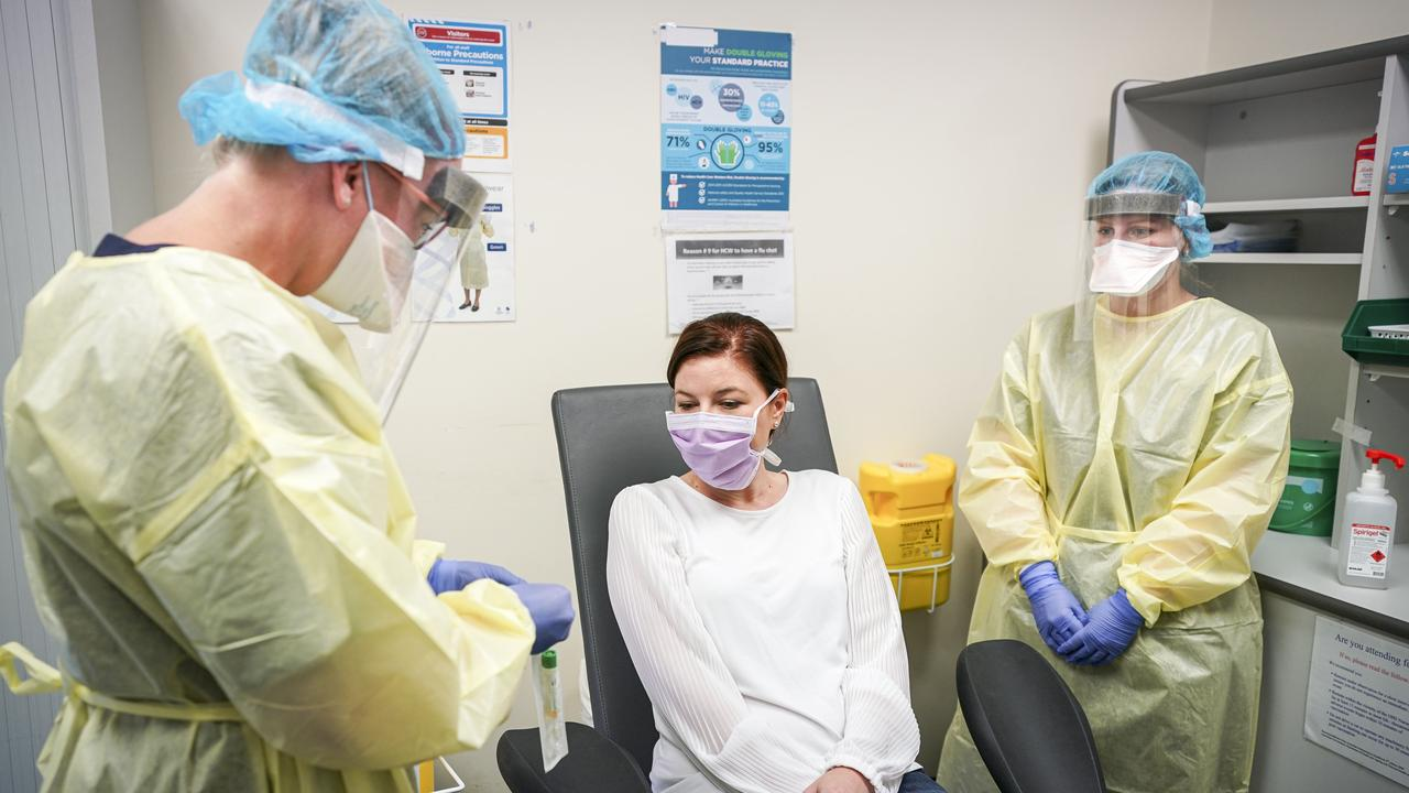 A new coronavirus clinic at Flinders Medical Centre. Picture: Mike Burton/AAP