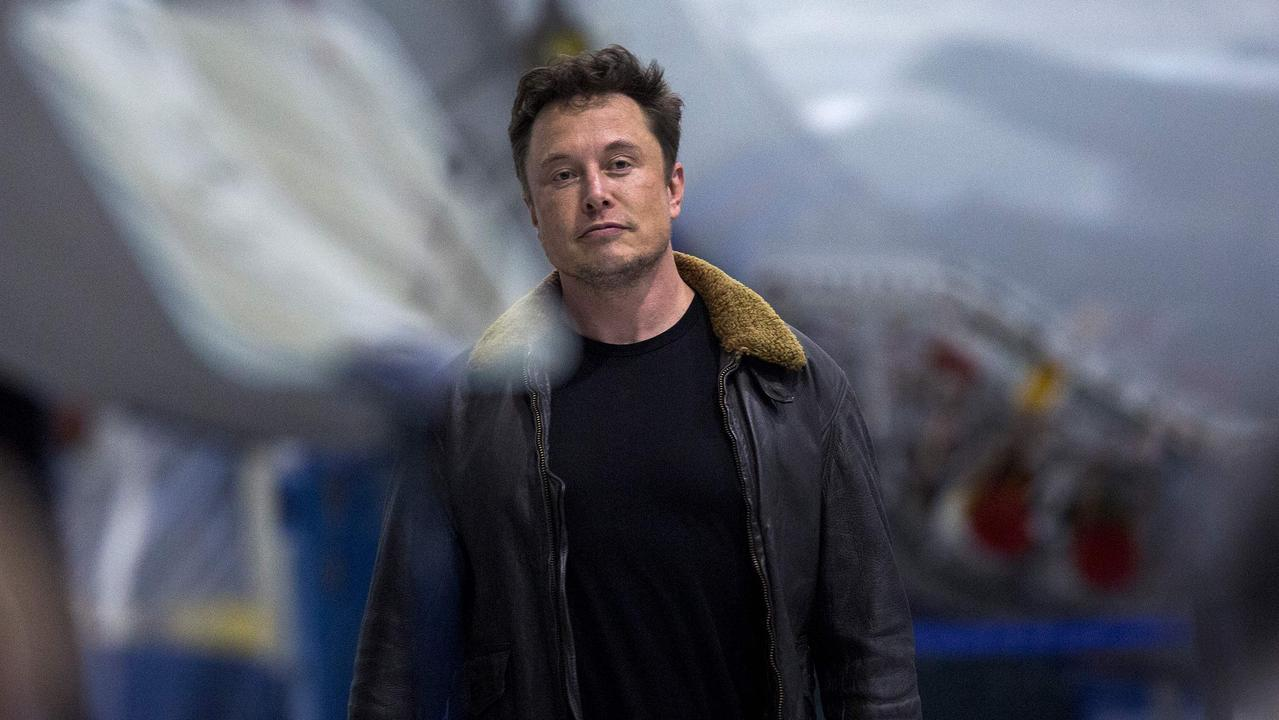 Elon Musk arrives to announce that Japanese billionaire Yusaku Maezawa will be the first private passenger who will fly around the Moon aboard the SpaceX BFR launch vehicle, earlier this year. Picture: David Mcnew