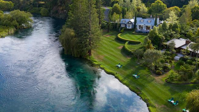 2/7Huka Lodge If it's good enough for Queen Elizabeth… This granddaddy of NZ lodges sits flush against the Waikato River and is in the middle of the North Island, around three hours drive from Auckland. Grab a fly rod and some waders and bring your every A River Runs Through It fantasy to life – chef Paul Froggat might even be tempted to cooking your catch.