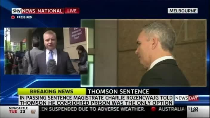 'Greedy' Craig Thomson jail sentence announced