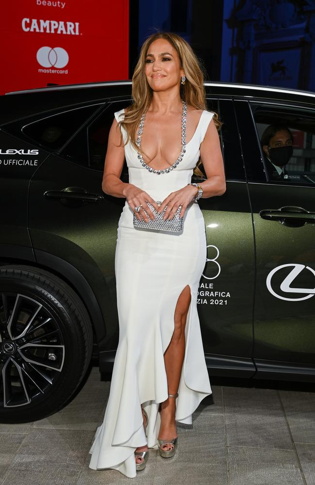 Lopez turned heads in a Georges Hobeika gown. Picture: Pascal Le Segretain/Getty Images