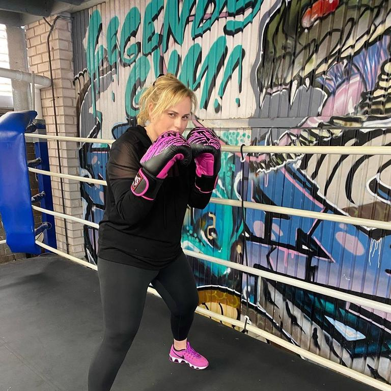 Rebel does a variety of HIIT and weights exercises which includes boxing.