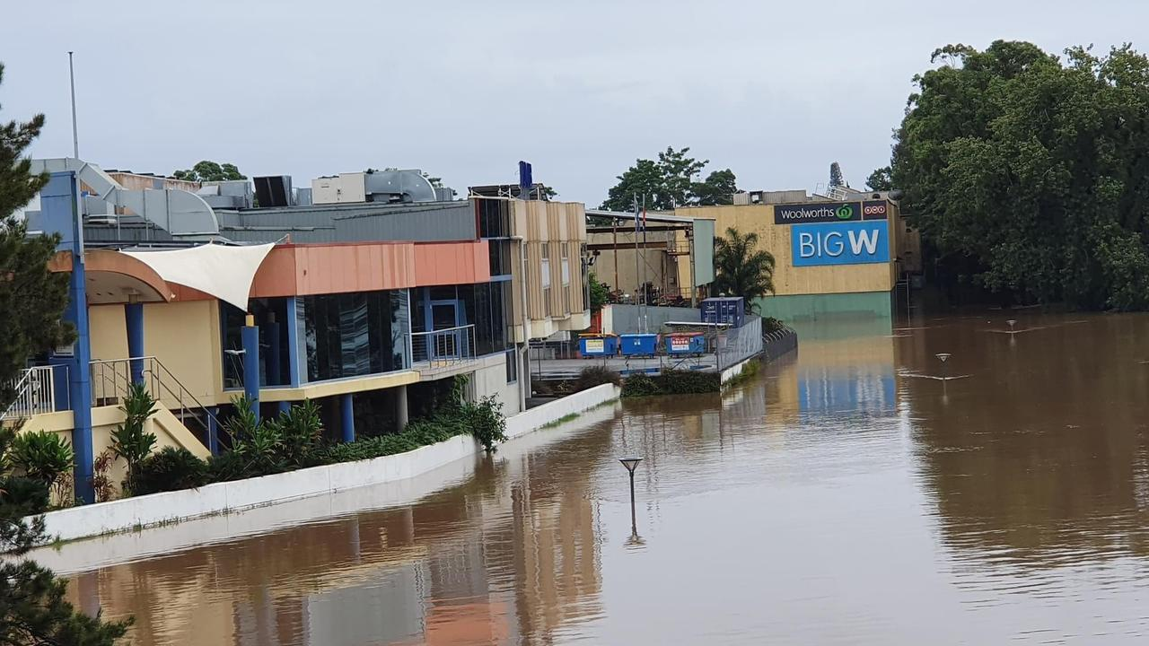 Kempsey's CBD will have to be evacuated. Picture: Nine News