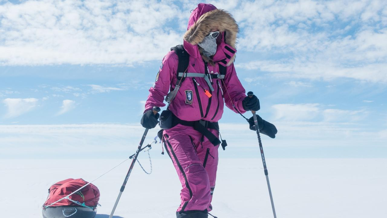 Jade Hameister during Greenland crossing. Picture: supplied