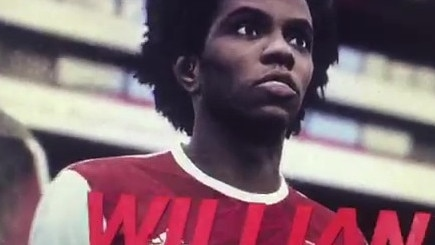 Willian on PES in Arsenal shirt
