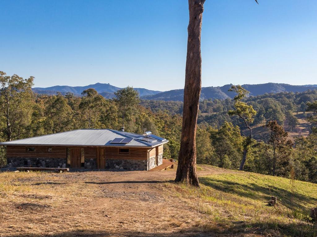 This off-grid two-bedroom has a battery-powered solar system.