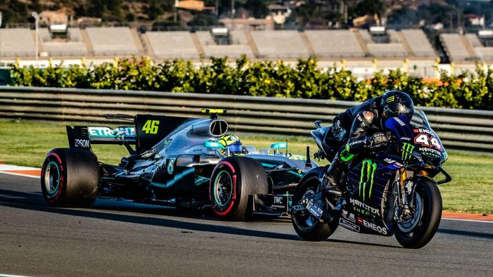 The two world champs take to the track. Picture: @MonsterEnergy