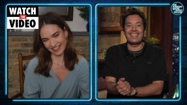 Lily James' first interview in wake of Dominic West kissing scandal (Jimmy Fallon)