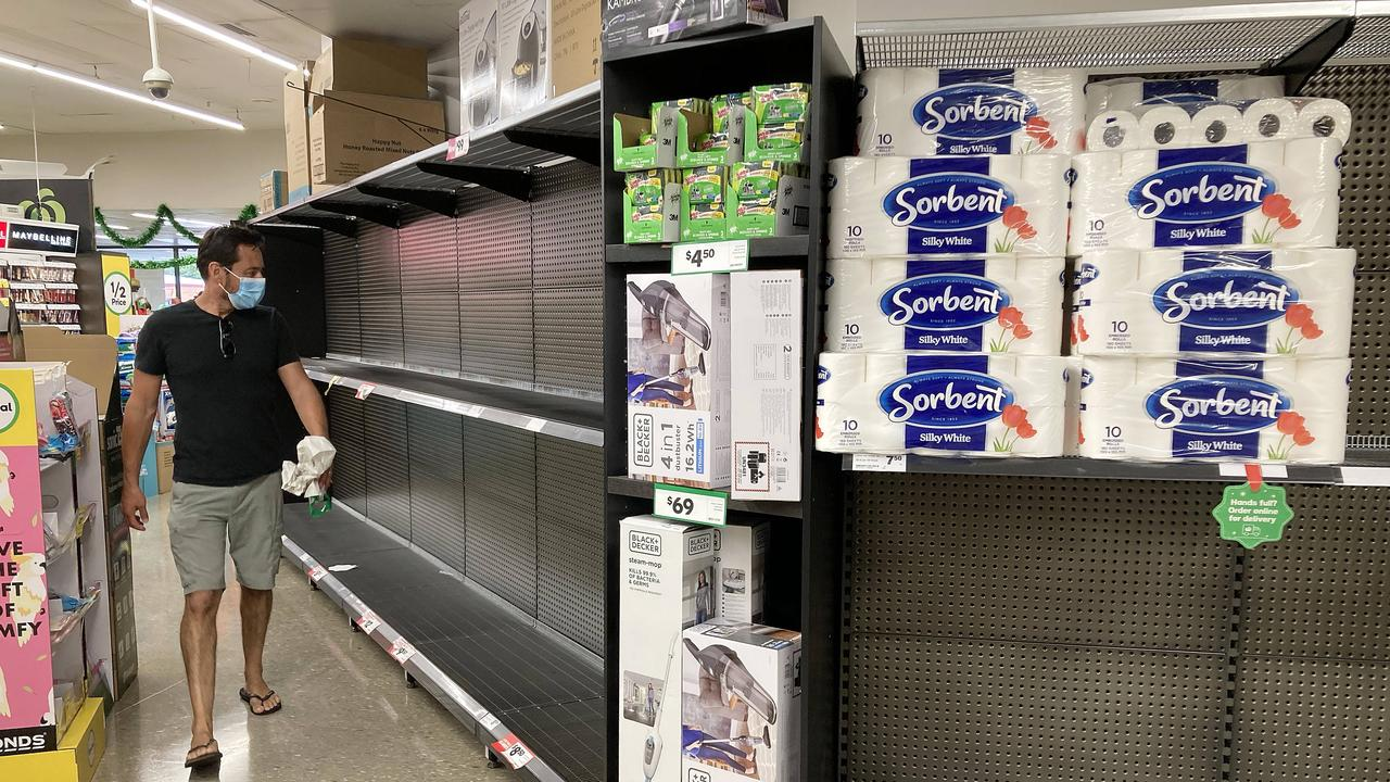 As the state locked down to curb the spread of coronavirus last autumn, and a rush on toilet paper emptied supermarket shelves, the amount of blockages increased dramatically, according to Sydney Water statistics. Picture: Tim Hunter