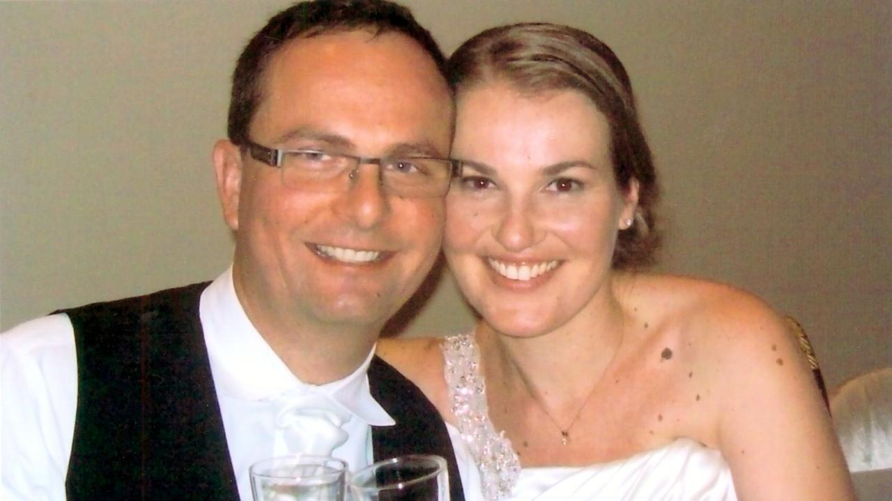 Tomislav Perinovic, then 39, and Katica Perinovic – nee Blazevic – then 34, at their wedding.