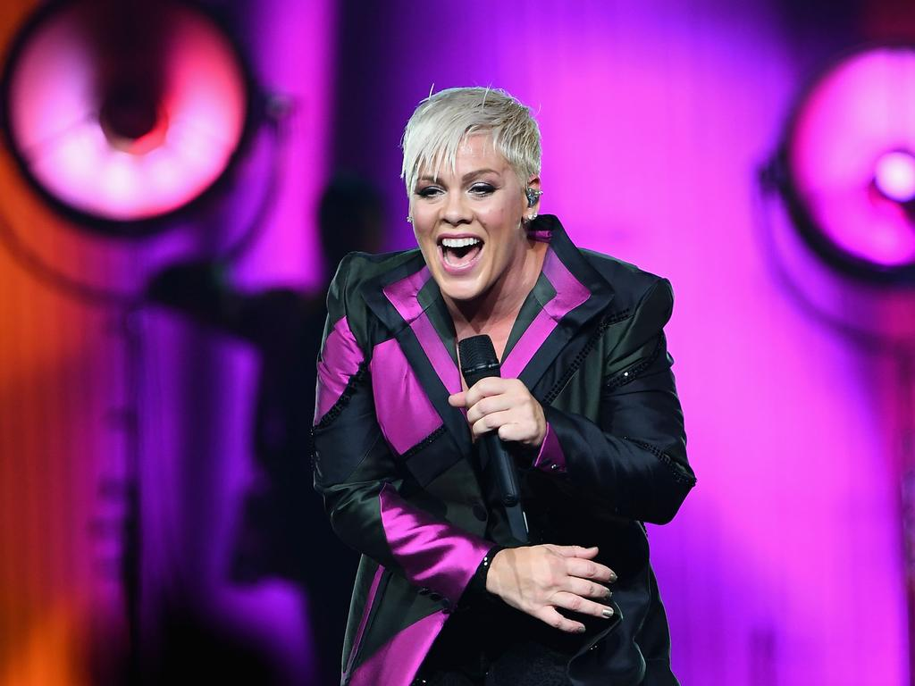 Pink on her 2018 Australian tour. Picture: Getty