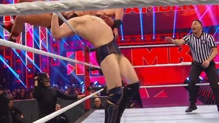 Daniel Bryan suffers an unfortunate wardrobe malfunction.