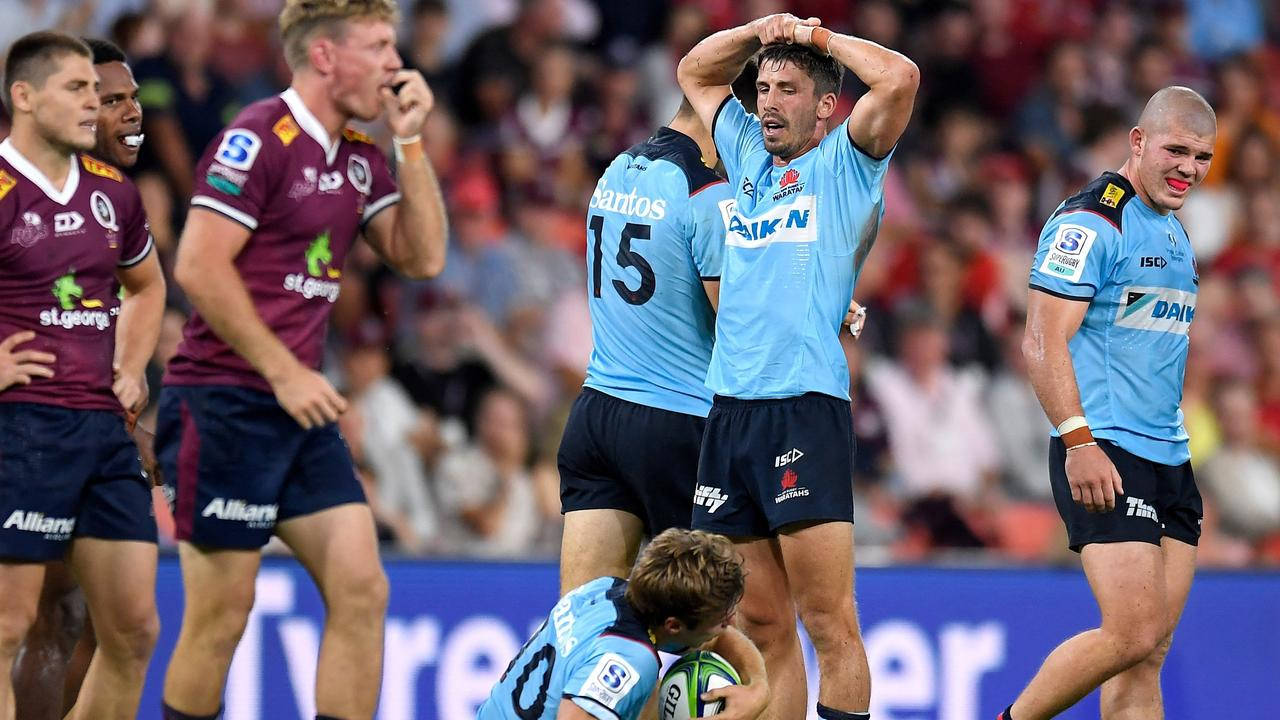 The Waratahs lost by a record margin to the Reds — and there is more pain on its way. Photo: Getty Images