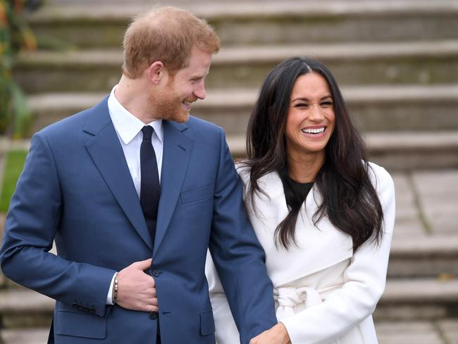 The happy couple on the day they announced their engagement. Picture: WireImage