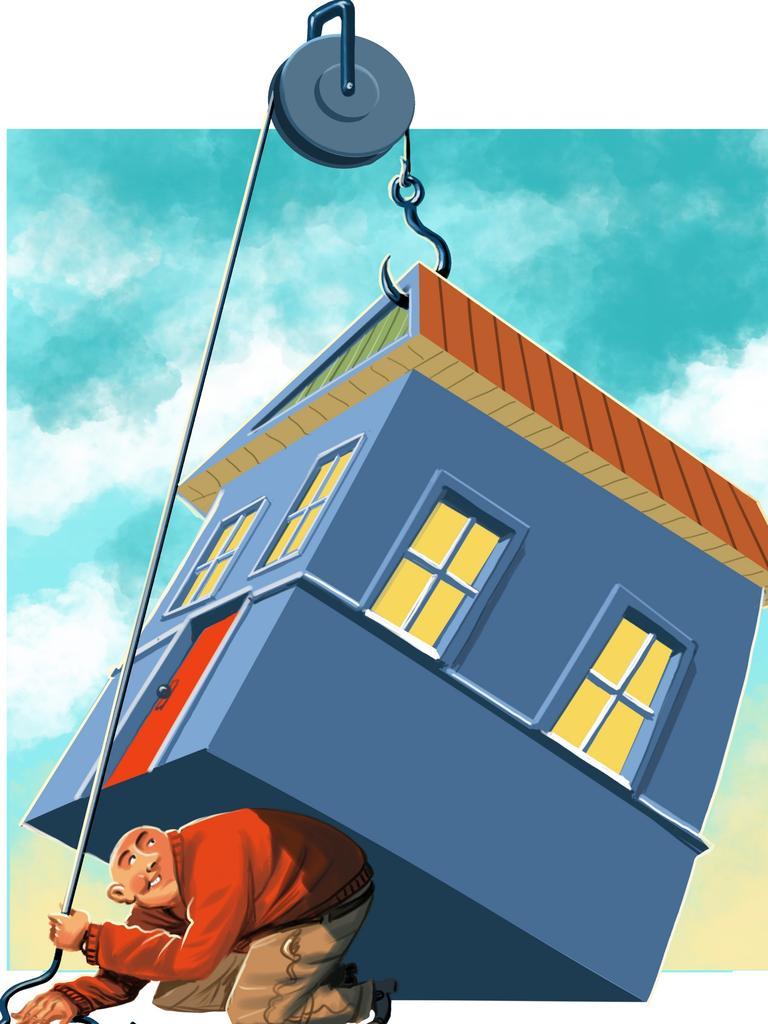 Get that big mortgage debt off your back quickly. Illustration: John Tiedemann