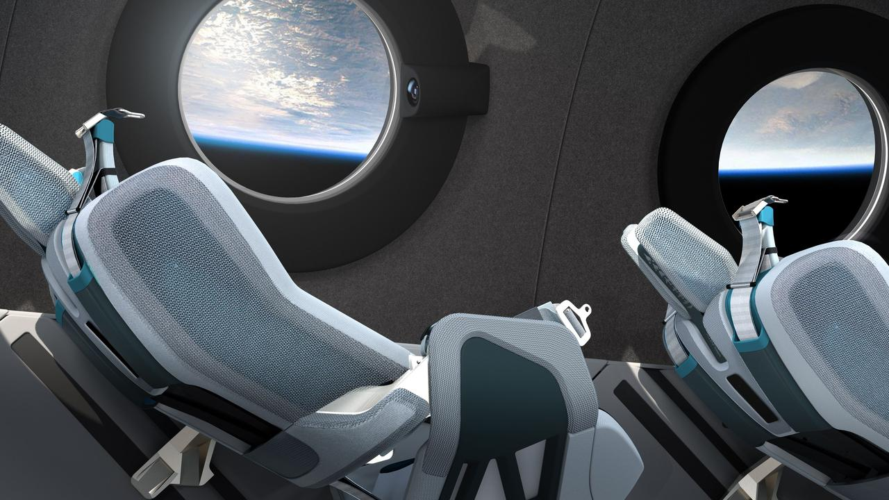 Passengers will have the chance to float around in zero-gravity. Picture: Virgin Galactic/The Spaceship Company/AFP.