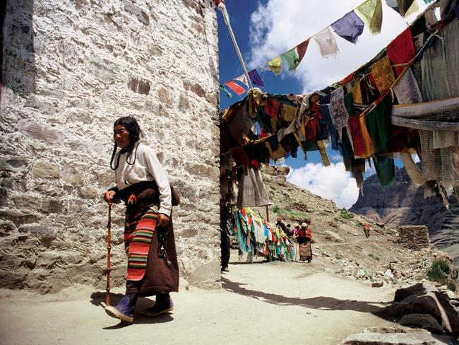MOUNT KAILASH, TIBET: The Himalayan mountain range is home to a smorgasbord of religious sites, the most significant of which is undoubtedly Mount Kailash. Said to be the mythical Mount Meru (the centre of the universe) the four-sided, 6700m-high Kailash is considered sacred by five different faiths, including Buddhists and Hindus. Buddhists believe the pilgrimage helps erase the sins of a lifetime, while Hindus think the mountain is the home of Shiva and his wife, Parvati. Walked for thousands of years, circumnavigating the sacred mountain equates to 52km though there's debate on exactly HOW you should do it – some pilgrims say you need to walk it in a single day, while others believe you should crawl the entire route. Picture: Jamie Williams
