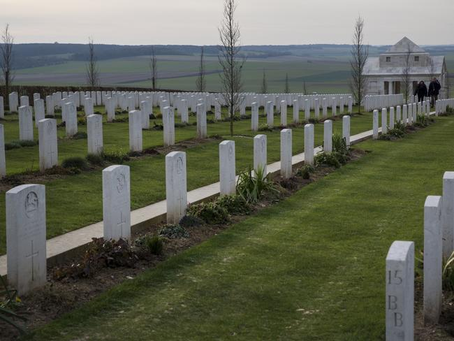 The Australian National Memorial in Villers-Bretonneux in Northern France. Picture: Ella Pellegrini