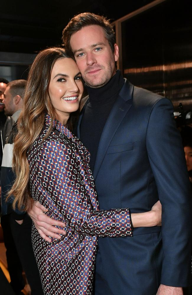 Armie Hammer and his wife Elizabeth Chambers, who are in the process of getting a divorce. Picture: Mike Coppola/Getty Images