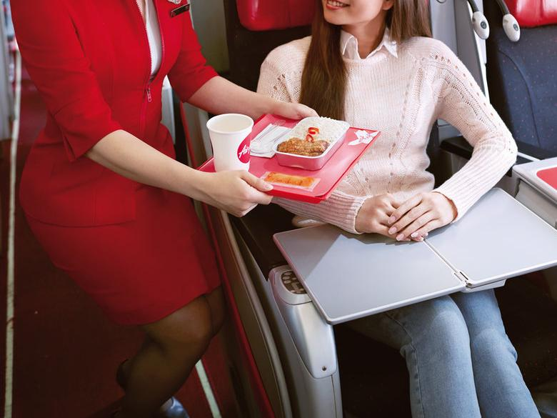 In flight meal. Picture: AirAsia