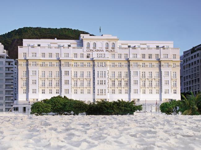 2. COPACABANA PALACE, BRAZIL Her name was Lola, she was a showgirl … at the Copa, where she fell in love with Tony and Rico, or so the Barry Manilow song went. The Copacabana Palace is not just the inspiration behind that love song, it's position overlooking Copacabana Beach, and its art-deco exterior as well as the artistic culinary creations at Michelin-starred Mee make it the perfect romantic destination. Built in 1923, it's Rio's grande dame, here every year during Carnival they host an extravagant grand ball. The hotel has a hall of fame of former guests, Madonna, Princess Diana and Freddie Mercury among them. Picture: Belmond