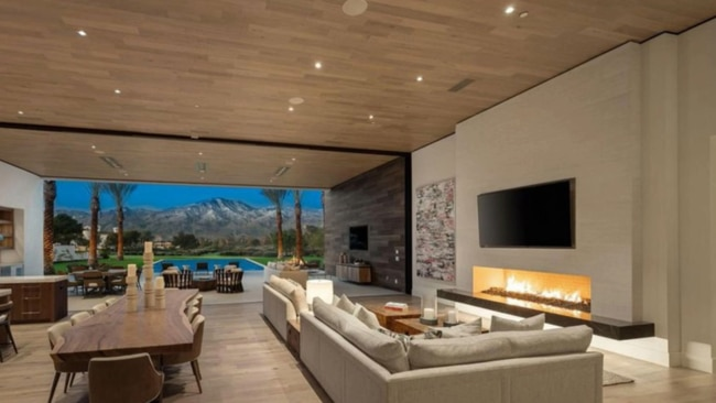 Living areas and lounge room at dusk. Picture: Realtor