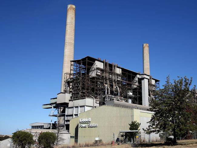 Liddell power station in the NSW town of Muswellbrook. Picture: AAP Image/Dan Himbrechts. Picture: Jane Dempster/The Australian